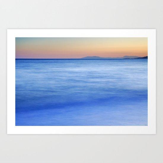 magical blue sea Art Print