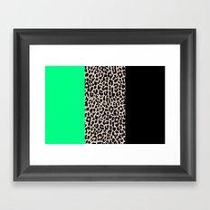 Leopard National Flag XIII Framed Art Print