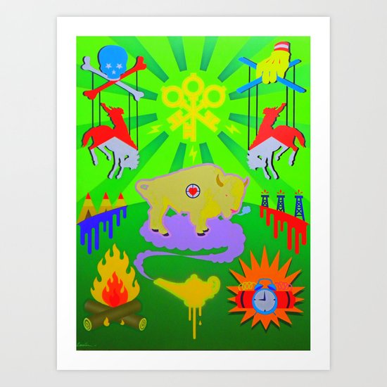 """""""THE WEST WAS WON"""" Art Print"""