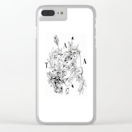 open letter Clear iPhone Case