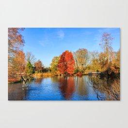 Winter Lake Scene Canvas Print