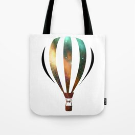 Space Hot air baloon Tote Bag