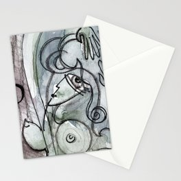 Abstract Nude Goddess No. 40O by Kathy Morton Stanion Stationery Cards