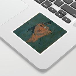Amadeo Modigliani / Tête rouge - 1915 Sticker