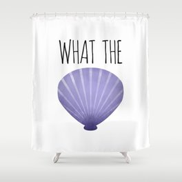 What The Shell Shower Curtain