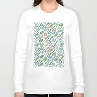 biology Long Sleeve T-shirts featuring Microbes by Anna Alekseeva kostolom3000
