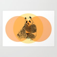 saving panda Art Print