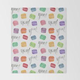 Yum! Macarons Throw Blanket