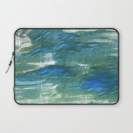 Wintergreen Dream abstract watercolor Laptop Sleeve