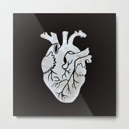 Anatomical Human Heart: Unusual Love Gift Metal Print