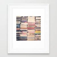 books Framed Art Prints featuring Books  by Caroline Mint