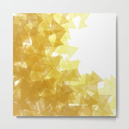 Gold abstract Metal Print