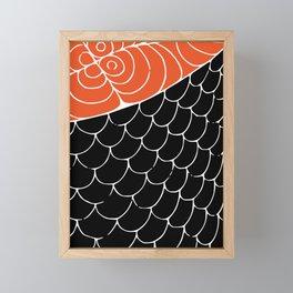 Sashimi food illustration Framed Mini Art Print