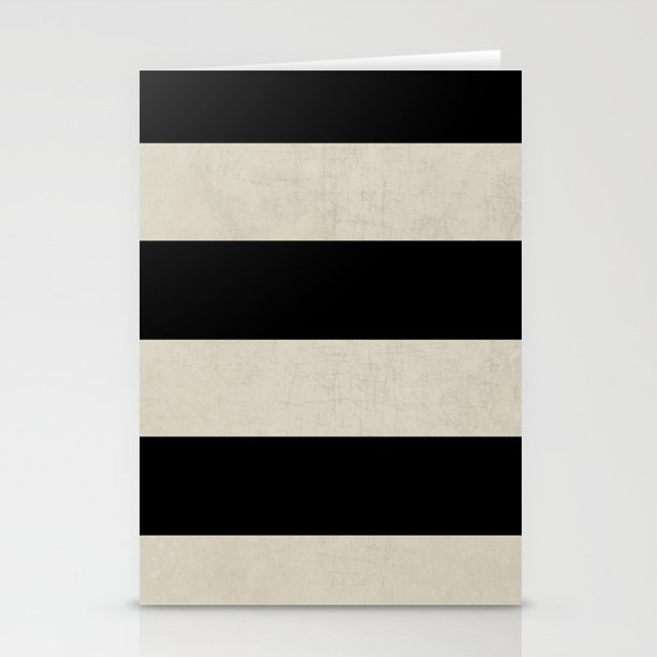 vintage black stripes Stationery Cards