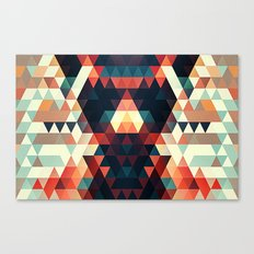 Abstract Triangle Face Canvas Print