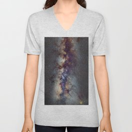 The Milky Way: from Scorpio, Antares and Sagitarius to Scutum and Cygnus Unisex V-Neck