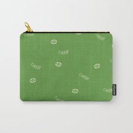 Cancer Pattern - Green Carry-All Pouch