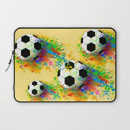 Football soccer sports colorful graphic design Laptop Sleeve