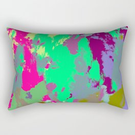 Yichimie - Colorful Batik Camouflage Tie-Dye Style Pattern Rectangular Pillow