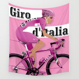 GIRO D'ITALIA Grand Cycling Tour of Italy Wall Tapestry