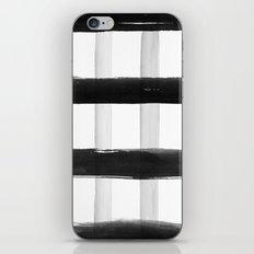 Black and White Brush Strokes iPhone Skin