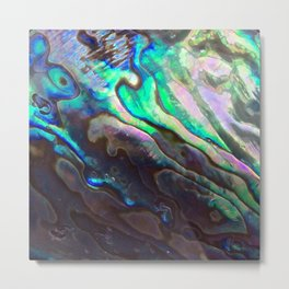Pearlescent Abalone Shell Metal Print
