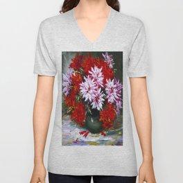 Holiday chrysanthemums Unisex V-Neck