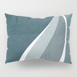 Contemporary Abstract Swerves in Aqua and Teal Pillow Sham
