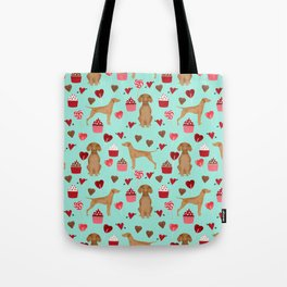 Vizsla valentines day dog breed gifts for dog lover unique dog pet portraits animal art Tote Bag