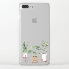 Plant Babies Clear iPhone Case