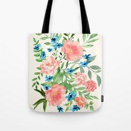 Watercolor Peonies Tote Bag
