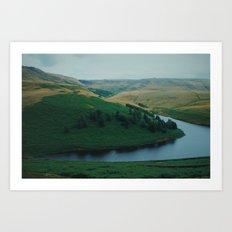 Kinder Reservoir in Peak District National Park Art Print
