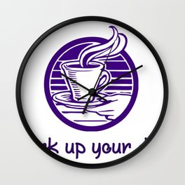 Coffee Perk up Your Day Coffee Lover Gift Wall Clock