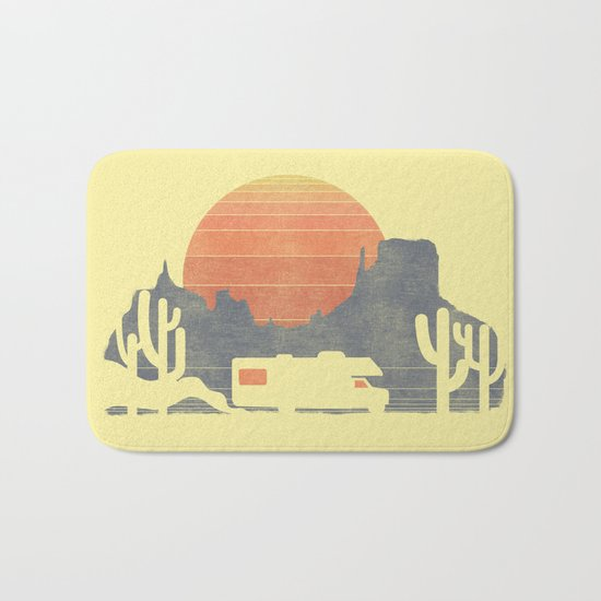Trail of the dusty road Bath Mat