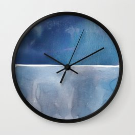 Hue in Blue Wall Clock