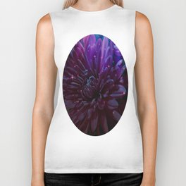 Twilight Floral Abstract Biker Tank