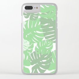 MONSTERA DELICIOSA SWISS CHEESE PLANT Clear iPhone Case