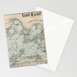 Map of East Hampton 1873 Stationery Cards