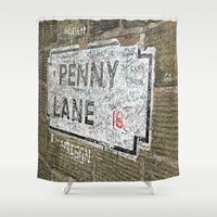 liverpool Shower Curtains featuring Liverpool Street Sign by Jonah Anderson