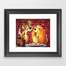 Lady and the Tramp Framed Art Print