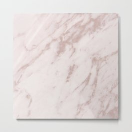 Real Rose Gold Marble Metal Print