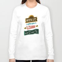 tequila Long Sleeve T-shirts featuring TYPOGRAPHY TEQUILA by magdam