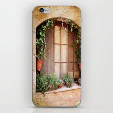 Mediterranean window iPhone & iPod Skin