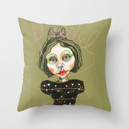 flexible girl Throw Pillow