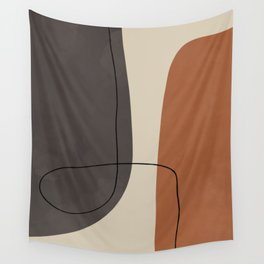 Modern Abstract Shapes #2 Wall Tapestry