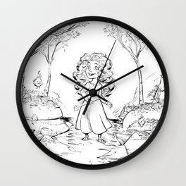 Merida princess (Brave) Wall Clock