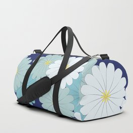 Blue oriental flowers Duffle Bag
