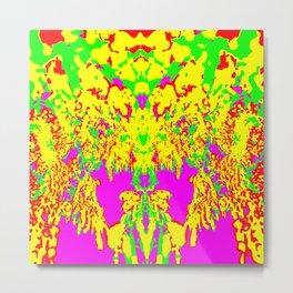 Neon Drip Spider Metal Print