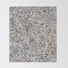 Beach Pebbles Throw Blanket