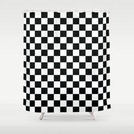 Chequered Flag Pattern Shower Curtain